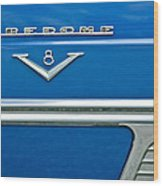1953 Desoto Firedome Convertible Side Emblem Wood Print