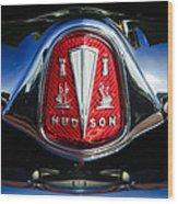 1953 Hudson Hornet Sedan Emblem Wood Print