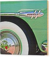 1953 Hudson Hornet Sedan Wheel Emblem Wood Print