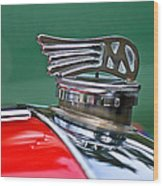 1953 Morgan Plus 4 Le Mans Tt Special Hood Ornament Wood Print by Jill Reger