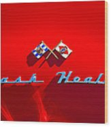 1953 Nash-healey Roadster Emblem Wood Print