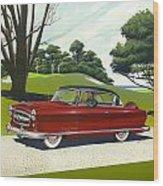 1953 Nash Rambler - Square Format Image Picture Wood Print