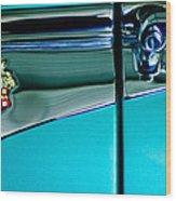 1953 Packard Caribbean Convertible Emblem 4 Wood Print