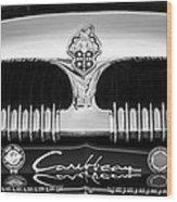 1953 Packard Caribbean Grille Emblem -1217bw Wood Print