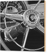 1953 Pontiac Steering Wheel 2 Wood Print