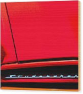1953 Studebaker Coupe Grille Emblem Wood Print
