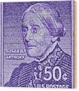 1954-1961 Susan B. Anthony Stamp Wood Print