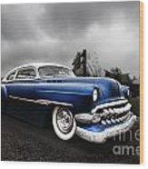 1954 Blue Buick Wood Print