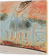 1954 Buick Special Hood Ornament Wood Print by Jill Reger