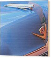 1954 Cadillac Coupe Deville Wheel Emblem - Hood Ornament Wood Print