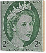 1954 Canada Stamp Wood Print