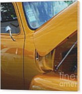 1954 Chevrolet And A 1963 Lemans Reflection Wood Print