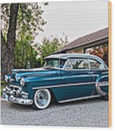1954 Chevrolet Bel Air Wood Print