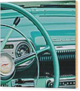 1954 Chevrolet Belair Steering Wheel 3 Wood Print