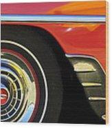 1954 Chevrolet Convertible Wheel Wood Print