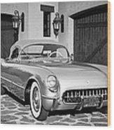 1954 Chevrolet Corvette -183bw Wood Print
