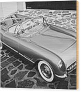 1954 Chevrolet Corvette -270bw Wood Print