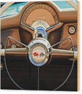 1954 Chevrolet Corvette Convertible  Steering Wheel Wood Print by Jill Reger