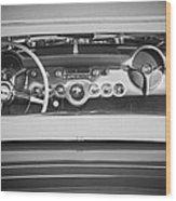 1954 Chevrolet Corvette Steering Wheel -139bw Wood Print