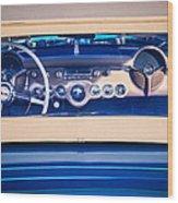 1954 Chevrolet Corvette Steering Wheel -139c Wood Print