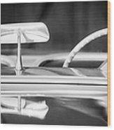1954 Chevrolet Corvette Steering Wheel -311bw Wood Print
