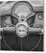 1954 Chevrolet Corvette Steering Wheel -382bw Wood Print