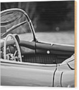1954 Chevrolet Corvette Steering Wheel -407bw Wood Print