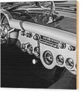 1954 Chevrolet Corvette Steering Wheel -502bw Wood Print