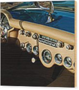 1954 Chevrolet Corvette Steering Wheel -502c Wood Print