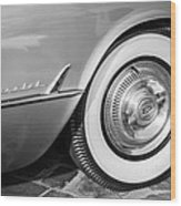 1954 Chevrolet Corvette Wheel Emblem -159bw Wood Print