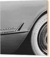 1954 Chevrolet Corvette Wheel Emblem -282bw Wood Print
