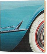 1954 Chevrolet Corvette Wheel Emblem -282c Wood Print