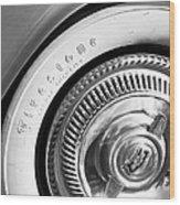 1954 Chevrolet Corvette Wheel Emblem -290bw Wood Print