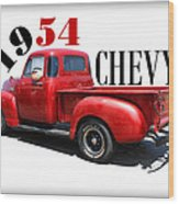 1954 Chevy Wood Print