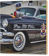 1954 Chevy Dare Police Car  Pine Hill  Nj Wood Print