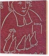 1954 De La Salle Monaco Stamp Wood Print