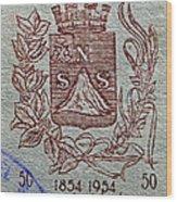 1954 El Salvador Stamp Wood Print