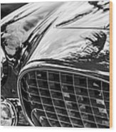 1954 Ferrari Europa 250 Gt Grille -1336bw Wood Print