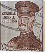 1954 General John J. Pershing Stamp Wood Print