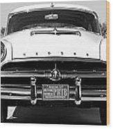 1954 Hudson Hornet In Black Wood Print