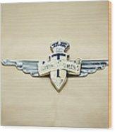 1954 Hudson Italia Touring Coupe Emblem Wood Print