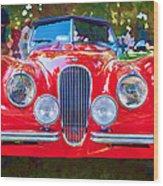 1954 Jaguar Xk 120 Se Ots Wood Print