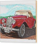 1954 M G T F  Wood Print