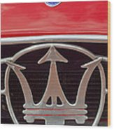 1954 Maserati A6 Gcs Emblem Wood Print by Jill Reger