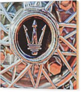 1954 Maserati A6 Gcs Wheel Rim Emblem Wood Print