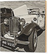 1954 Mg Td Sepia Wood Print