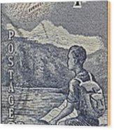 1954 Mount Aspiring New Zealand Stamp Wood Print