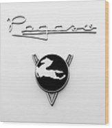 1954 Pegaso Z-102 Saoutchik Coue Emblem -2218bw Wood Print