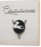 1954 Pegaso Z-102 Saoutchik Coue Emblem -2218c Wood Print