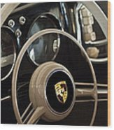 1954 Porsche 356 Bent-window Coupe Steering Wheel Emblem Wood Print